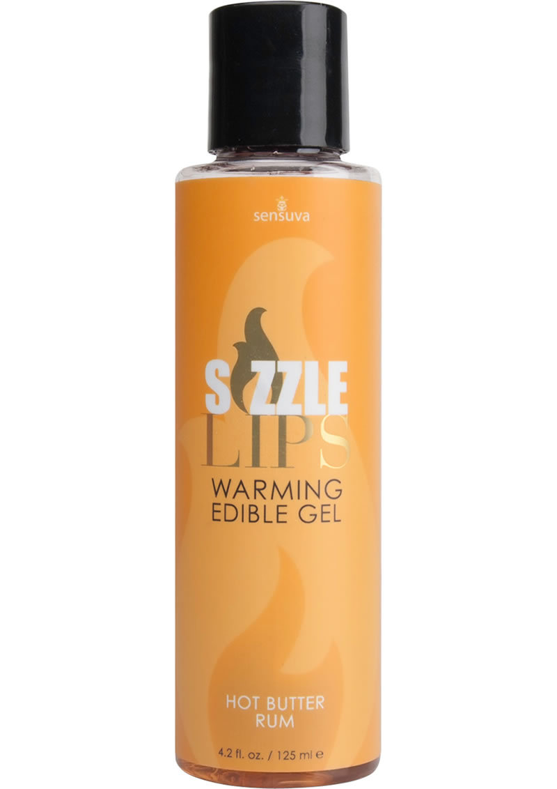 Sizzle Lips Warming Edible Gel Butter Rum 4.2oz